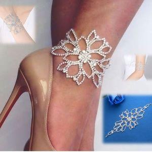 Jewelry - Rhinestone Anklet/Bracelet Stunning Flower Design